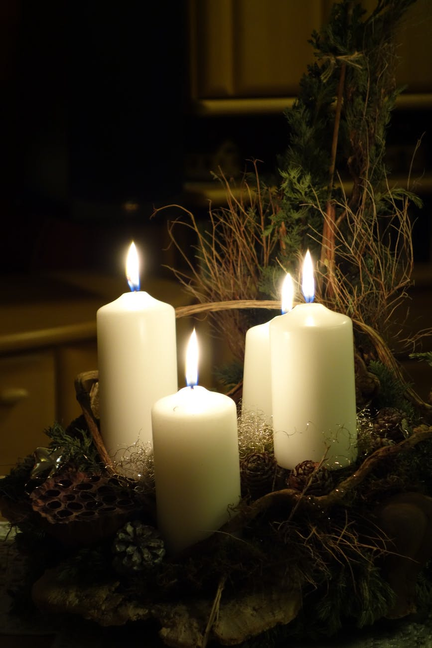 advent advent wreath burn burnt