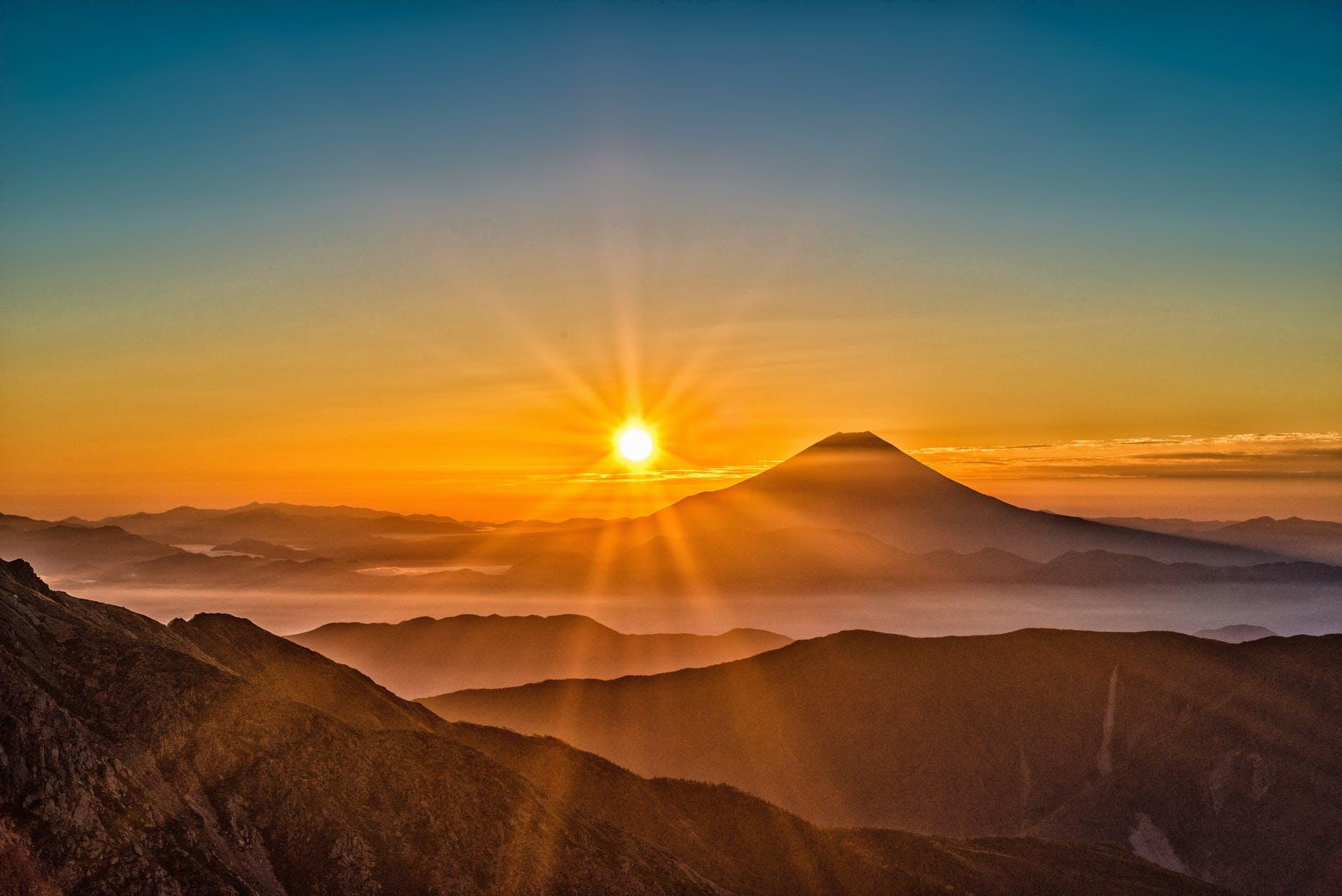 clouds dawn desert landscape