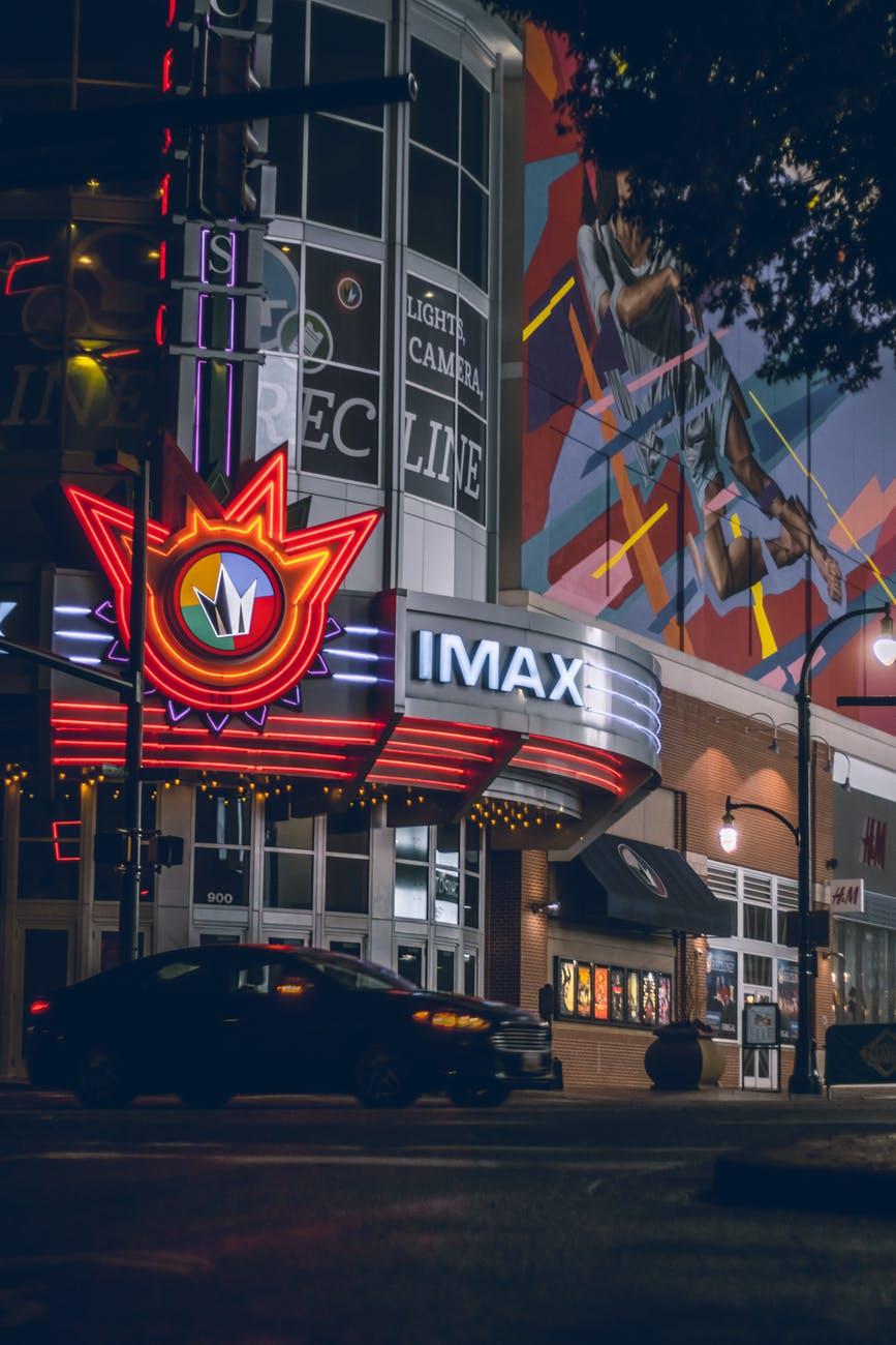 multicolored imax theater